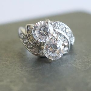 Cubic Zirconia Sterling Silver Ring